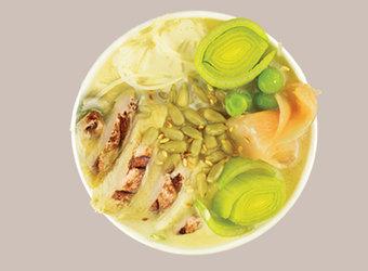 Sopa de pollo, coco & Verduras
